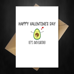Funny Cute Valentines Day Card - Let's Avo Cuddle - That Card Shop