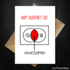 Cute Valentines Day Card - You + Me = Awesome - That Card Shop