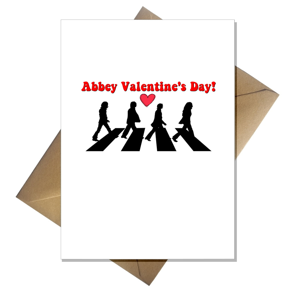Funny Beatles Valentines Card - Abbey Valentine's Day! - That Card Shop