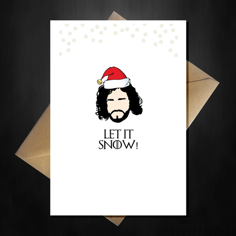Funny Game of Thrones Christmas Card - Let it Snow