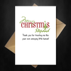 Funny Cute Christmas Card for your Step-dad - Thank You Stepdad - That Card Shop