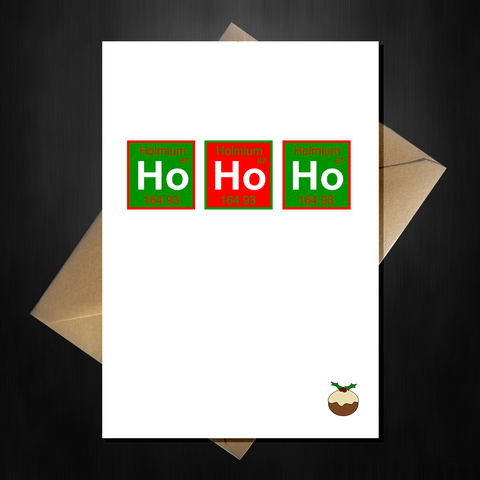 Funny Scientific Christmas Card - Ho Ho Ho Periodic Table