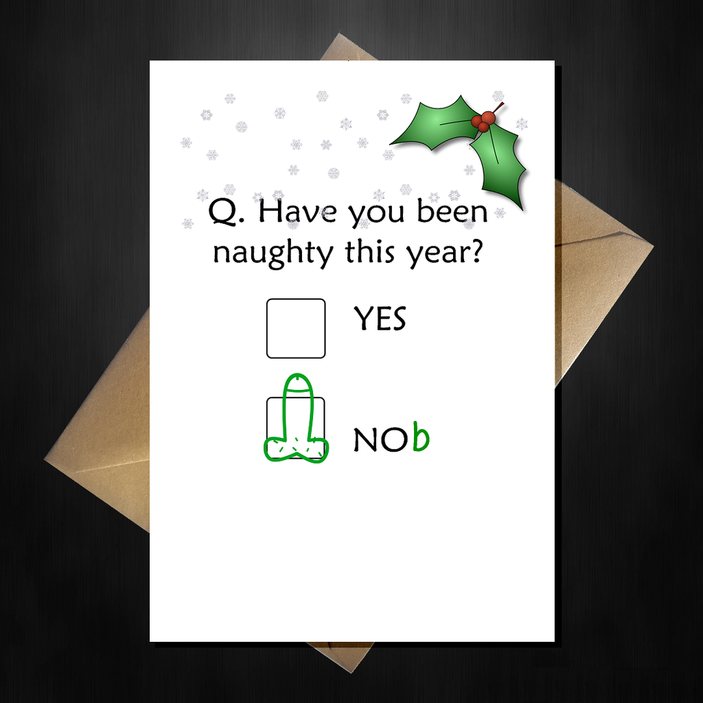 Funny Christmas Card - Have you been naughty? - That Card Shop