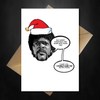 Funny Movie Themed Christmas Card - Pulp Fiction - That Card Shop
