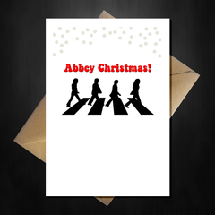 Funny Beatles Christmas Card - Abbey Xmas! - That Card Shop
