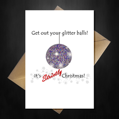 Strictly Come Dancing Christmas Card - Get out your Glitter Balls! - That Card Shop