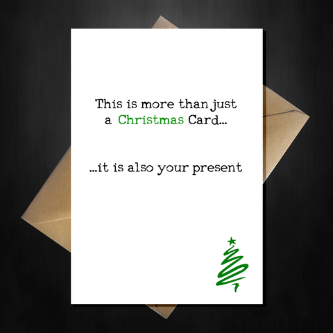 This is more than just a Christmas card, it is also your present!