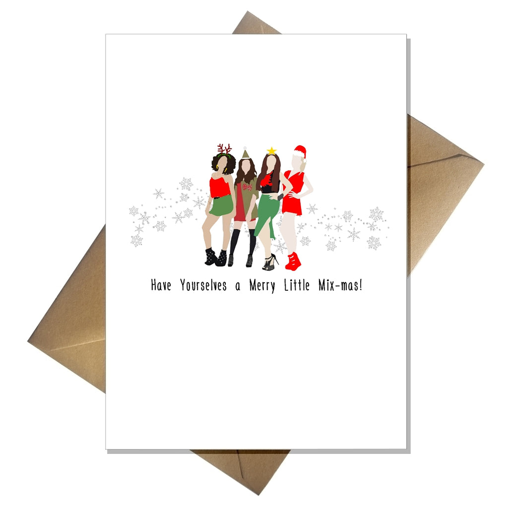 Little Mix Christmas Card - Funny Have Yourselves a Merry Little Mix-mas - That Card Shop