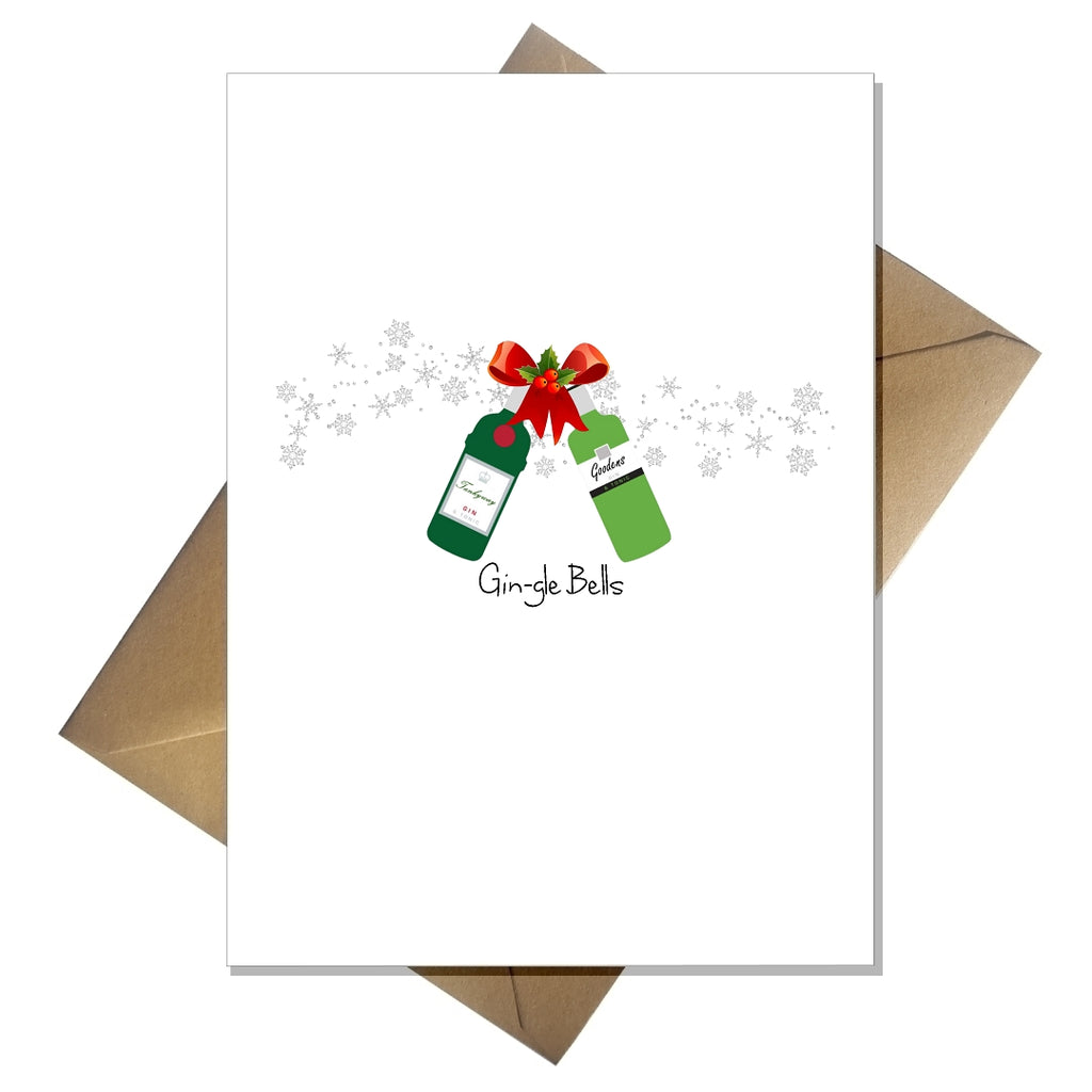Funny Gin Christmas Card - Gin-gle Bells! - That Card Shop