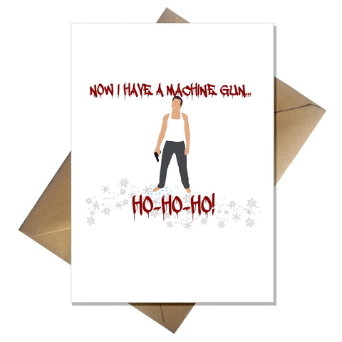 Funny Movie Themed Christmas Card - Die Hard