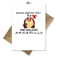Friends TV Show Christmas Card - The one with the Holiday Armadillo - That Card Shop