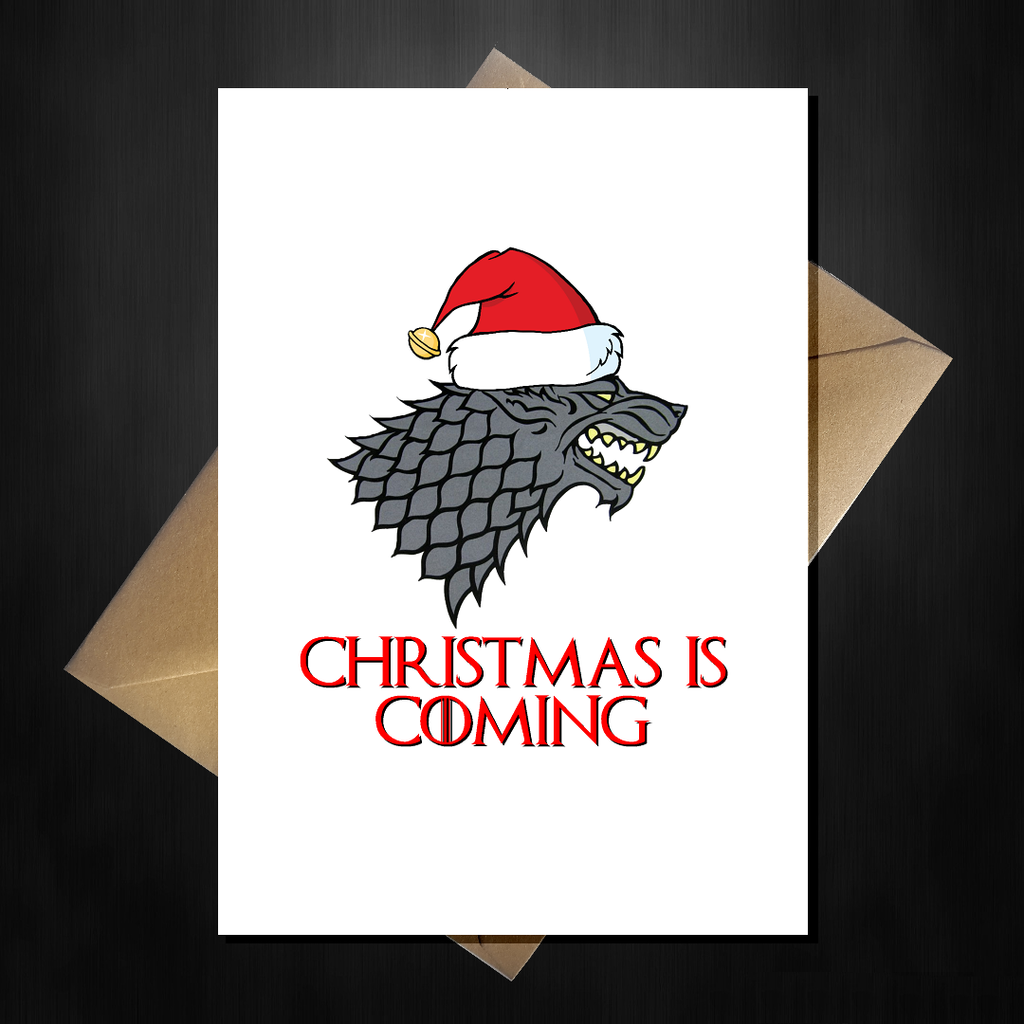 Funny Game of Thrones Xmas Card - Christmas is coming...