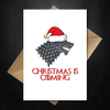 Funny Game of Thrones Xmas Card - Christmas is coming... - That Card Shop