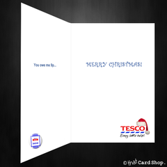 Funny Tesco Value Christmas Card - Supermarket Spoof Xmas - That Card Shop