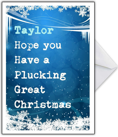"""Have a Plucking Great Christmas"" Funny Xmas Card"