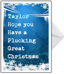 """Have a Plucking Great Christmas"" Funny Xmas Card - That Card Shop"