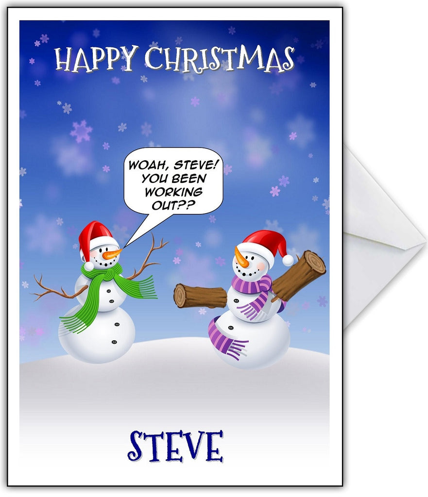 "Funny Christmas Card ""The Abdominal Snowman"" - That Card Shop"