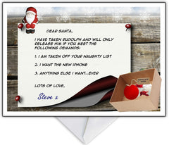 Funny Christmas Card - Rudolph Ransom Note! - That Card Shop