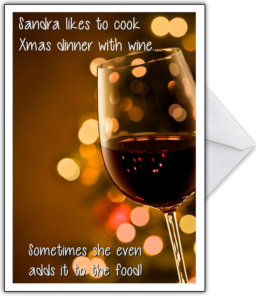 Christmas Card for a Wine Lover! - That Card Shop