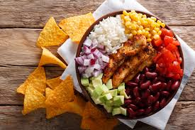 BBQ Chicken Burrito Bowl with Corn Chips