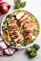 Grilled Chicken With Broccoli Salad