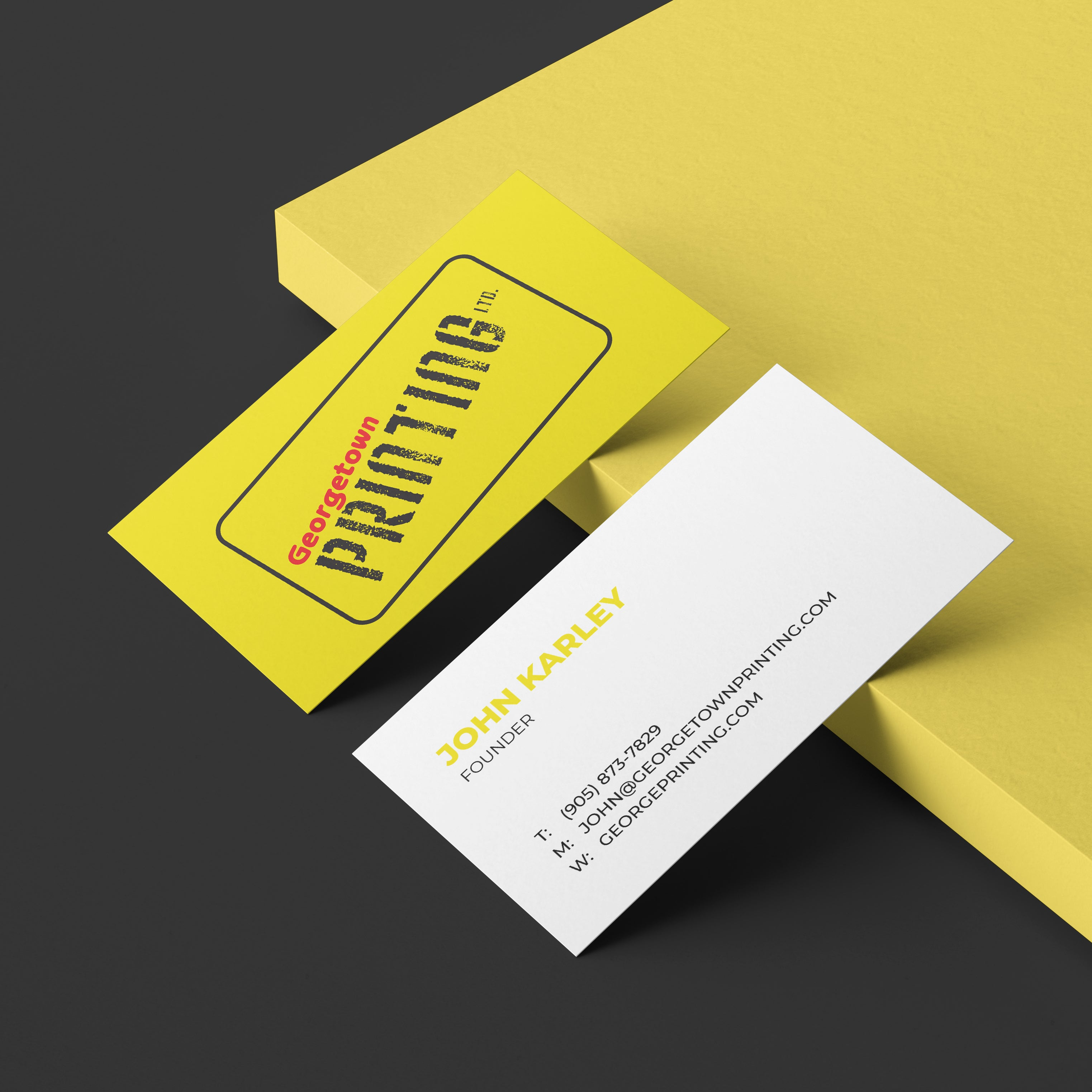 Georgetown printing business cards