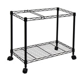 Oceanstar Portable 1-Tier Metal Rolling File Cart, Black 1MRC1491