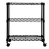 Oceanstar Portable 2-Tier Metal Rolling File Cart, Black 2MRC1507