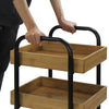 Oceanstar Portable Storage Cart with 3 Easy Removable Bamboo Trays 3SC1675