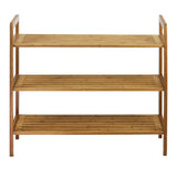 Oceanstar 3-Tier Bamboo Shoe Rack, Natural