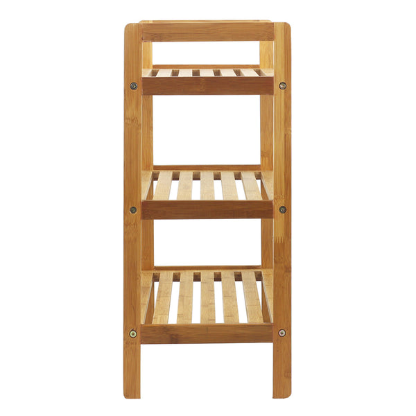 Captivating Oceanstar 3 Tier Bamboo Shoe Rack, Natural Images