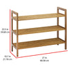 Oceanstar 3-Tier HPL Bamboo Shoe Rack, Natural
