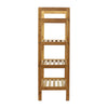 Oceanstar 4-Tier HPL Bamboo Shoe Rack, Natural