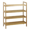 Oceanstar 4-Tier Bamboo Shoe Rack, Natural