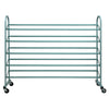 Oceanstar 5-Tier Metal Shoe Rack, Turquoise