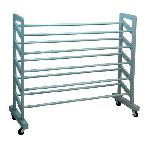 Oceanstar 5-Tier Wooden Shoe Rack, Turquoise
