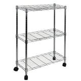 Oceanstar 3-Tier Shelving All-Purpose Utility Cart, Chrome AUS1477