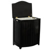 Oceanstar Mahogany Finished Bowed Front Laundry Wood Hamper with Interior Bag BHP0106MH