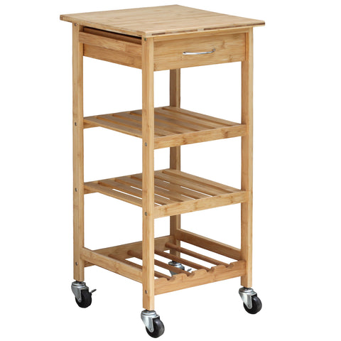 Oceanstar Bamboo Kitchen Trolley BKC1378
