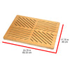 Oceanstar Bamboo Floor and Bath Mat with Non-Slip Rubber Feet FM1750CNC