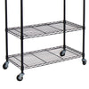 Oceanstar Garment Rack with Adjustable Shelves with Hooks, Black GRS1514
