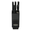 Oceanstar KS1200 Contemporary 6-Piece Knife Set with Block, Elegant Black
