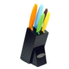 Oceanstar KS1217 6-Piece Non-Stick Coating knife set with Block, Elegant Black