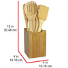 Oceanstar 7 Piece Bamboo Cooking Utensil Set