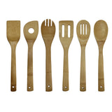 Oceanstar 6 Piece Bamboo Cooking Utensil Set KT1286