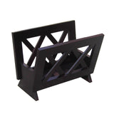 Oceanstar Contemporary Mahogany Solid Wood Magazine Rack M1125