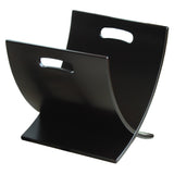 Oceanstar Contemporary Espresso Finish Wooden Magazine Rack M1170