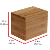 Oceanstar Bamboo Recipe Box with Divider RB1408
