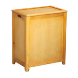 Oceanstar Natural Finished Rectangular Laundry Wood Hamper with Interior Bag RHP0109N