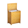 Oceanstar Natural Finished Rectangular Veneer Laundry Wood Hamper with Interior Bag RHV0103N